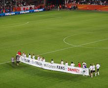 Die deutsche Mannschaft verabschiedet sich