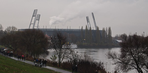 Werderstadion im Nieselregel